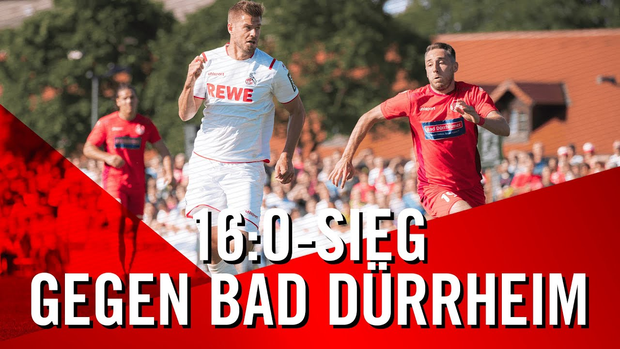 16:0 SIEG für den 1. FC KÖLN beim Landesligisten FC Bad Dürrheim