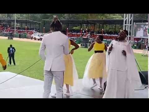 GUARDIAN ANGEL AND EMMY KOSGEI PERFOMING OLOLO DURING MADARAKA DAY