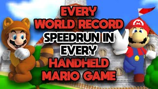 Every World Record Speedrun in Every Handheld Mario Game (Any%)