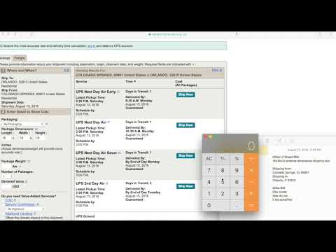 Create a shipping weight estimate for breast milk shipment