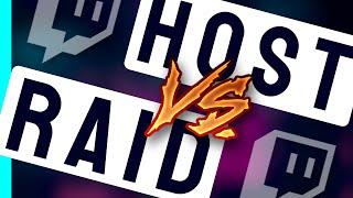 Was ist der Unterṡchied zwischen Raid & Host?