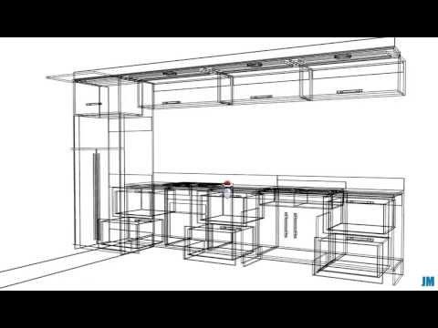 Polyboard proyecto mueble alto cocina en l doovi for Programa de diseno de cocinas integrales