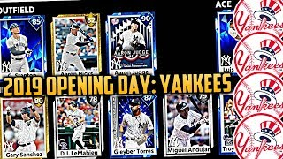 2019 New York Yankees Opening Day Lineup! MLB The Show Projections!