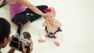 7 month Baby Girl Studio Photoshoot with Ana Brandt