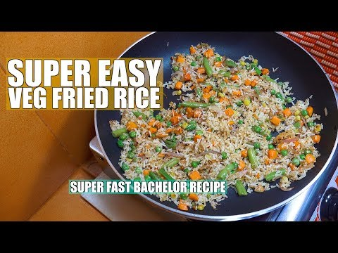 How to make Vegetable Fried Rice - Super Easy Fried Rice - Bachelor recipes