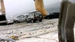 Boat Losing Cargo ( Cars ) in Rough Sea