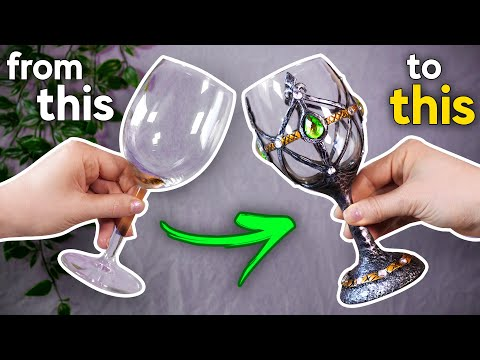 Turning Wine Glasses into Epic Goblets! (Easy DIY!)