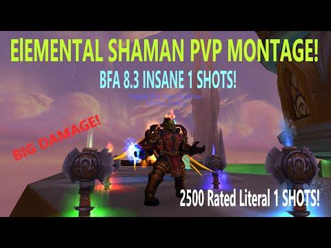 Elemental Shaman PvP Montage (HUGE BURST & 1SHOTS!) - World of Warcraft | BFA 8.3