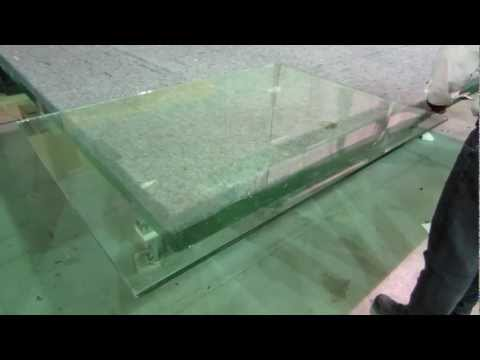 Tempered & Laminated Glass Breaking