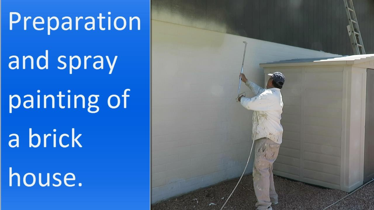 Painting the exterior of a brick house. - YouTube