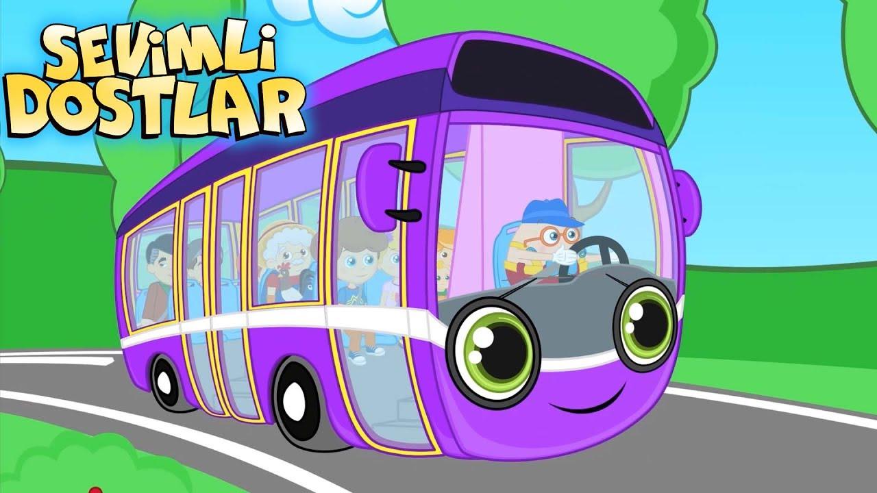 Otobüsün Tekerleği - Sevimli Dostlar çizgi film çocuk şarkıları 2017 - Adisebaba TV Bebek Şarkıları