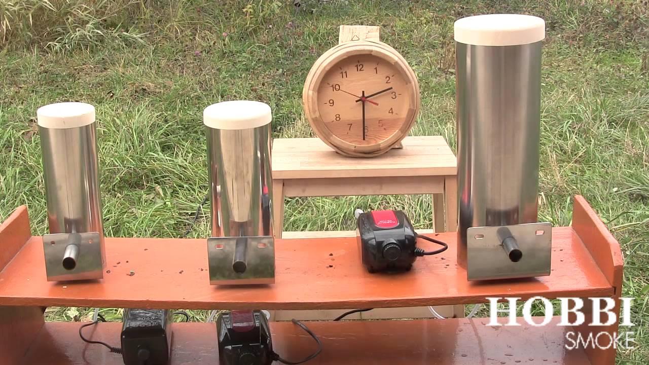 Дымогенератор для холодного копченения Hobbi Smoke - время дымления