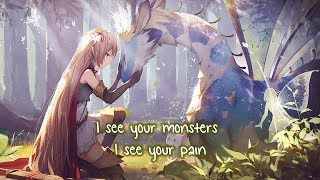Download lagu Nightcore ⇢ I see your monsters (Lyrics)