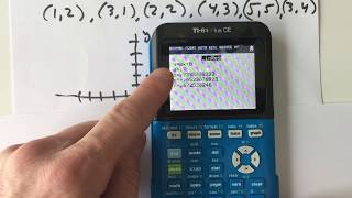 الانحدار الخطي TI84 (خط تناسب)