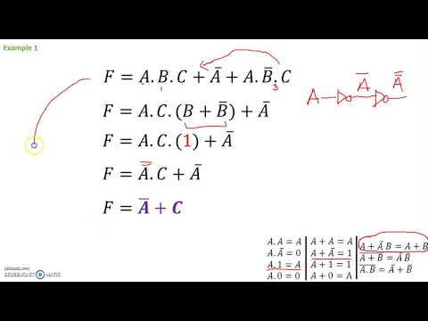 Example Problems Boolean Expression Simplification - YouTube