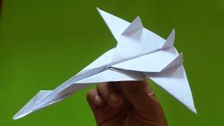 Cara Membuat Origami Pesawat Jet Fighter  | Tutorial Origami Pesawat