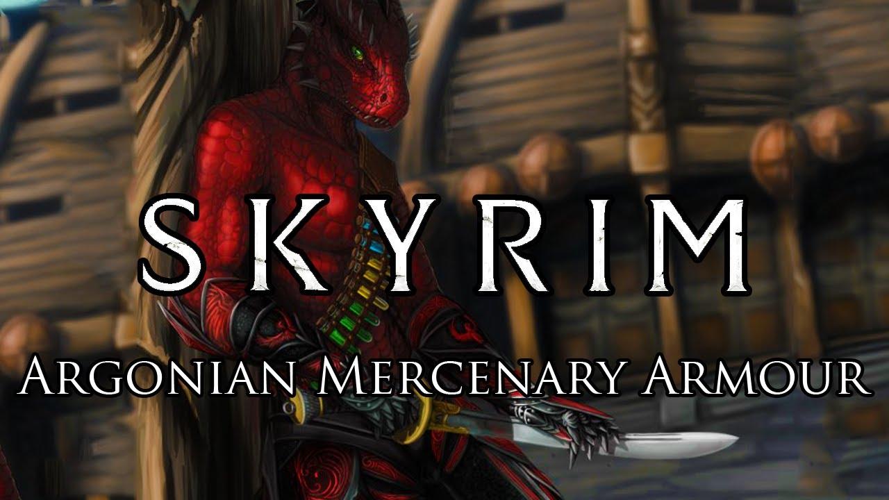 Ama Argonian Mercenary Armor With Armored Tail At Skyrim Nexus