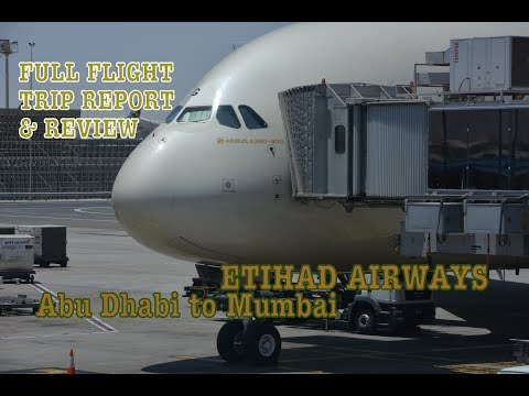#67: ETIHAD Airbus A380 | Abu Dhabi to Mumbai | EY204 | A6-APG | Flight Trip Report & Review