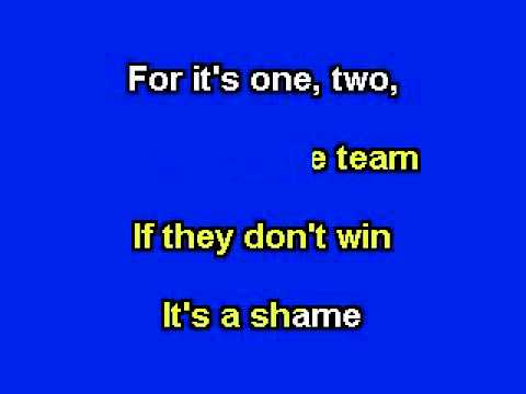 Take Me Out To The Ball Game, Karaoke video with lyrics, Instrumental version