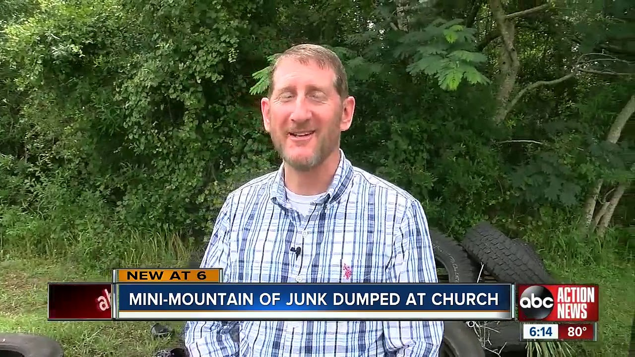 Tampa pastor frustrated by junk being left on church
