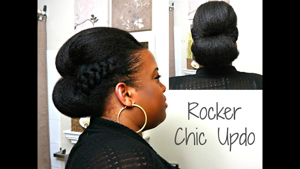 Rocker Chic Updo Natural Afro Textured Hair Youtube