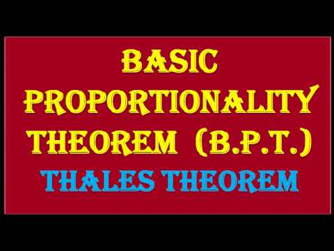 CLASS 10 BASIC PROPORTIONALITY THEOREM  ( B.P.T.)