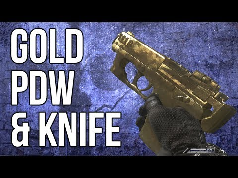 Ghosts In Depth - Gold PDW & Gold Knife (Damage, Speed, & Rate Of Fire)