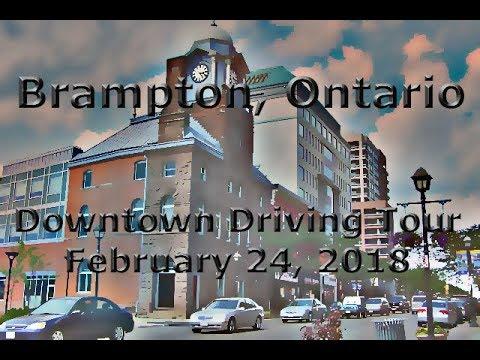 Brampton, Ontario: Touring Around Downtown (February, 2018)