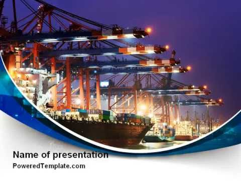 Port of the seas powerpoint template by poweredtemplate youtube port of the seas powerpoint template by poweredtemplate toneelgroepblik Choice Image