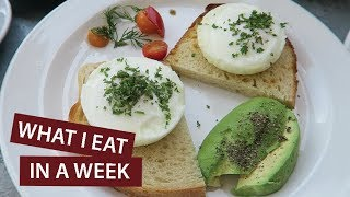 What I Eat in a Week #1 | College Student | lindseyrem
