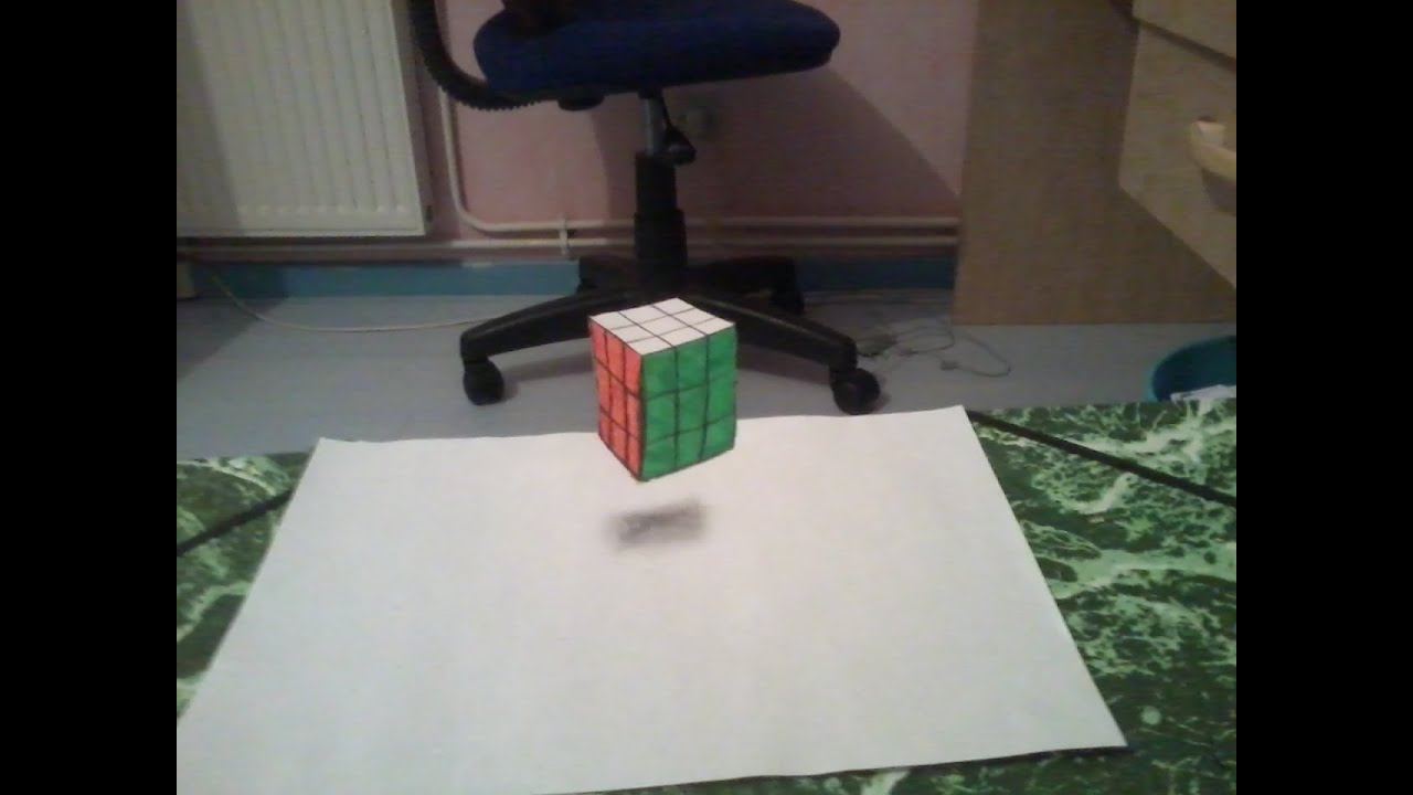 dessiner un rubik 39 s cube en 3d youtube. Black Bedroom Furniture Sets. Home Design Ideas
