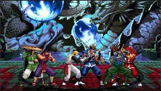 닌자 방식 (3v3 Fight) : Eiji, Zantetsu and Andy VS. Saizo, Fuuma and Hanzo