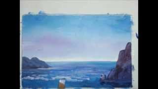 Морской пейзаж гуашью [Картина за 3 минуты!](Рисуем морской пейзаж гуашью. Приятного рисования! ;) Материалы, которые нужны для рисования: -гуашь; -акваре..., 2015-07-23T15:18:12.000Z)