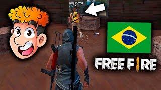 JUGANDO FREE FIRE POR PRIMERA VEZ EN LA REGION DE BRASIL !! *espectacular* | TheDonato
