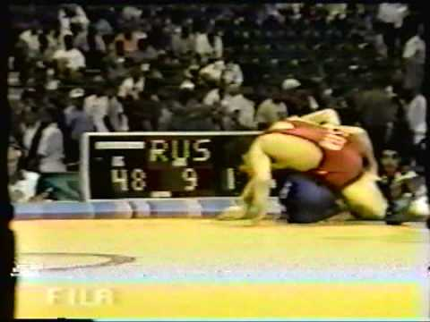 1996 Olympic Games: 48 kg Vougar Oroudjov (RUS) vs. Paul Ragusa (CAN)