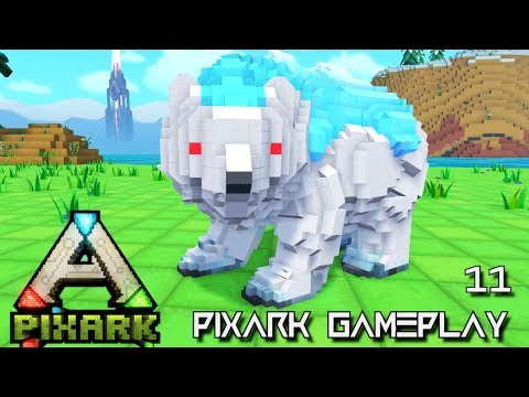 PIXARK: ICE BEAR & ARGENTAVIS TAMING ALPHA TRIBE E11 !!! ( Pix ARK GAMEPLAY )