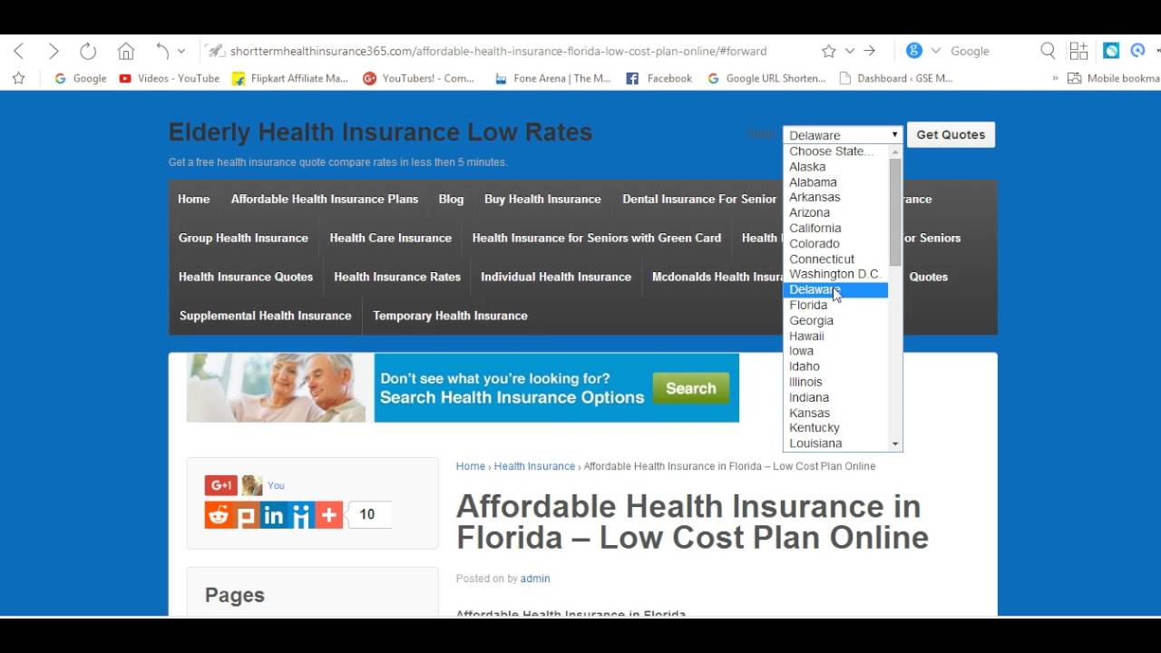 Health Insurance Quotes Florida Affordable Health Insurance In Florida  Low Cost Plan Online