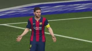 FC Barcelona Vs Real Madrid - PES 2015 PS4 Gameplay