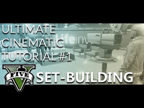 How to create cinematic looking GTA 5 Movies Tutorial #1 SET BUILDING | NEW HOME CINEMA