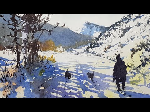 HOW TO PAINT SNOW - Watercolor Demonstration By Tim Wilmot