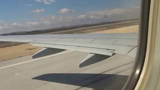 Take off from Gaziantep Oğuzeli Airport Turkey AnadoluJet (Uçak kalkış Gaziantep Havalimanı)