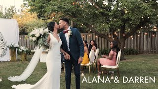 Alana & Darren | Wedding Highlight | A beautiful backyard ceremony in the time of Covid-19