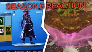 REACTING TO *NEW* FORTNITE SEASON 6 - New Battle Pass + Map Changes! (Victory Royale)