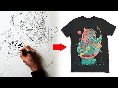 How I Design A T Shirt - Clothing Art Tutorial