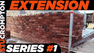 Buidling House Extension, Bricklaying Series UK #1