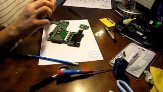 замена термопасты на процессоре ноутбука Asus 1215b. Разборка, чистка