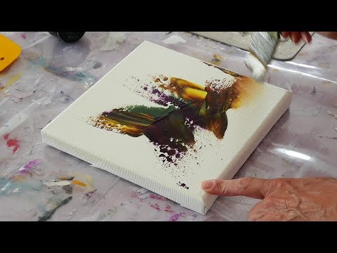 Abstract Painting demo / Relaxing Demo / Acrylics / Palette knife