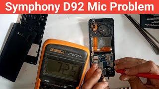 Symphony D92 Mic Line missing // Symphony D92 mic solution