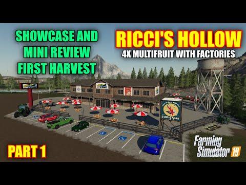 Ricci's Hollow 4x Factory & Multifruit Map Review & Letsplay Farming Simulator 19