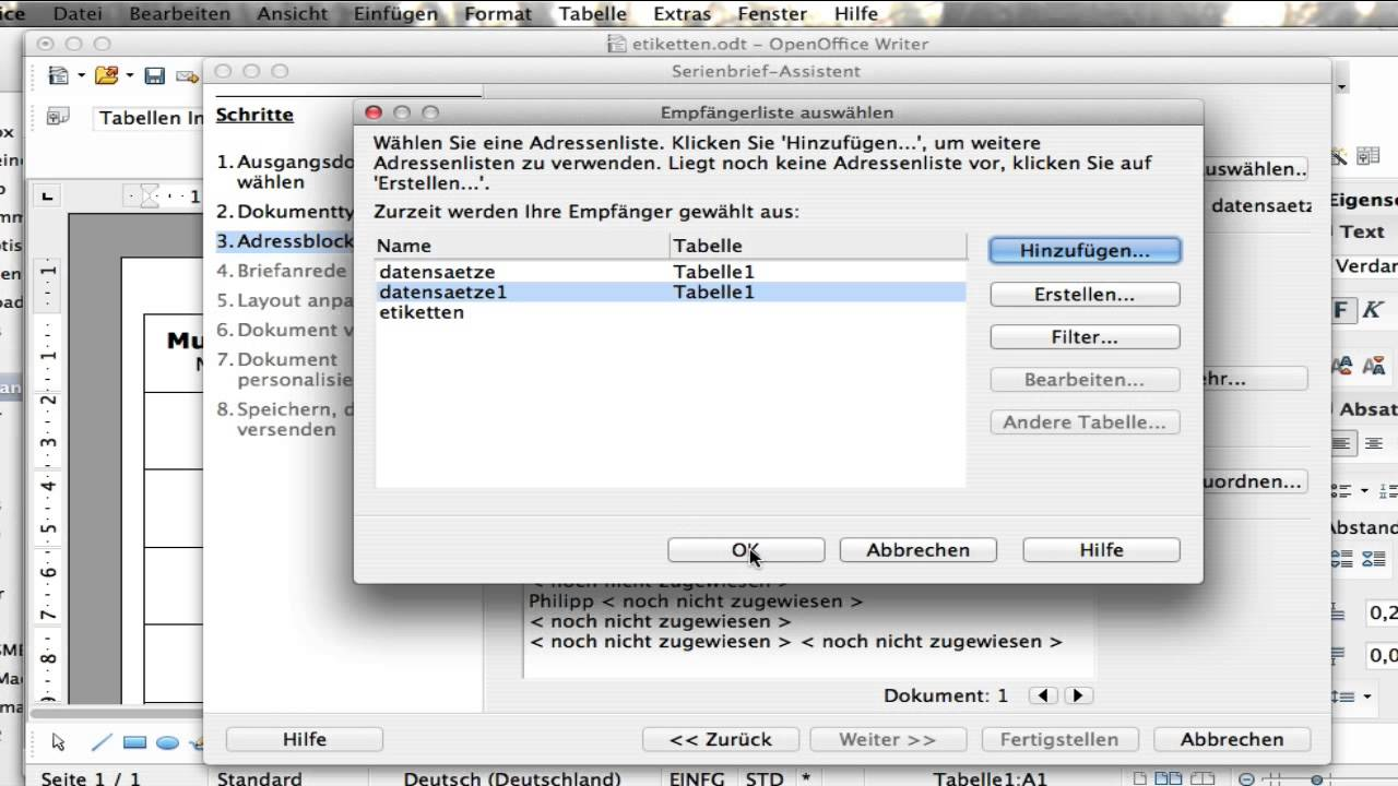 Etiketten Mit Openoffice Oder Libreoffice